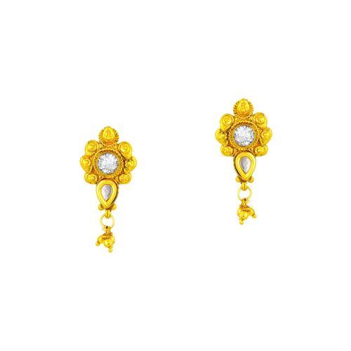 Sukkhi gold brass mangalsutra & drop earrings