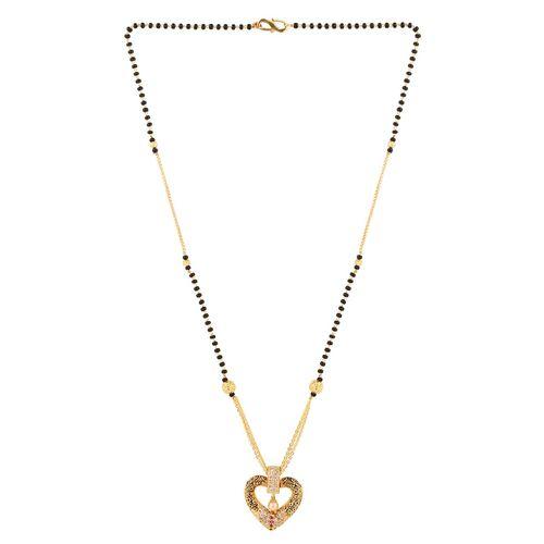 vihaa online sales gold beads mangalsutra