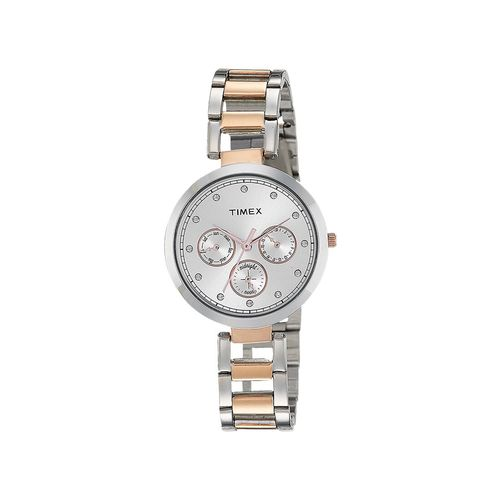 timex silver dial watch for women - tw000x214