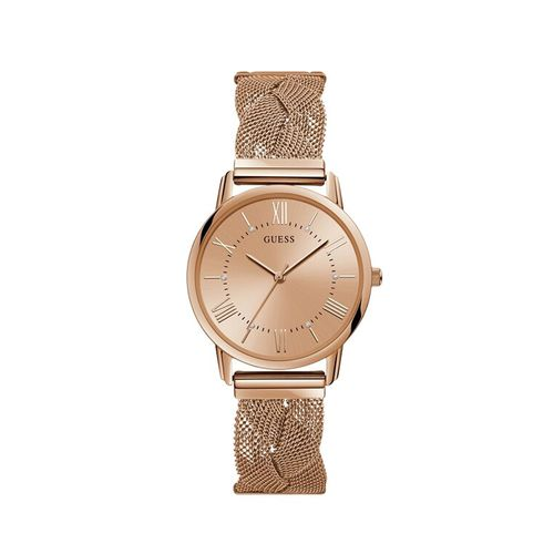 guess ladies rose gold watch -(w1143l3)