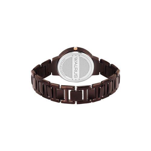 premium walrus elite silver dial analog women watch