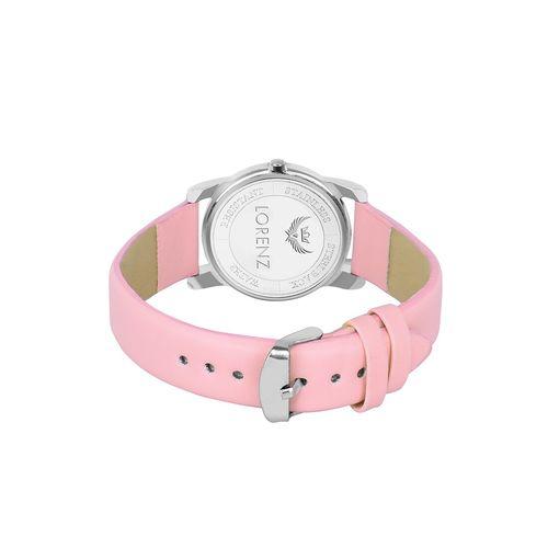 lorenz pink dial analog watch for women- (as-65a)