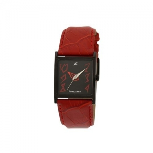 fastrack black dial analog watch for women - 9735nl01