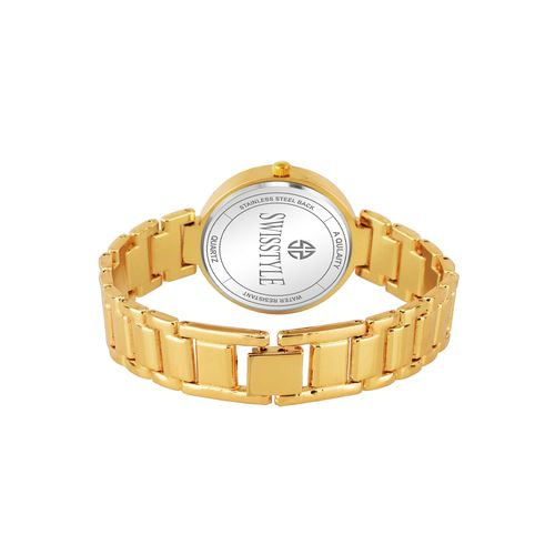 swisstyle gold dial analog women's watch-ss-lr312-gld-gld-ch