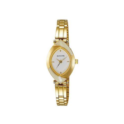Sonata metal strap analog watch-nk8069ym03