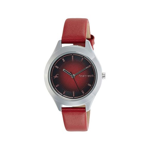 fastrack round dial analog watch-6153sl01