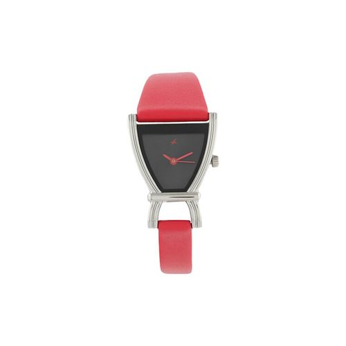 fastrack fits & forms analog black dial women's watch - 6095sl03