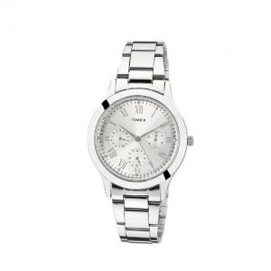 timex analogue silver dial men's watch - tw000z100