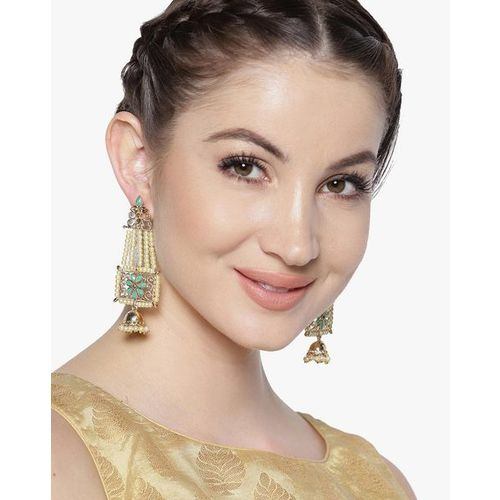 ZAVERI PEARLS Pearl Jhumar & Jhumki Drop Earrings - ZPFK7332