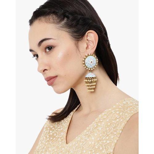 ZAVERI PEARLS Meenakari Jhumki Earrings - ZPFK8780