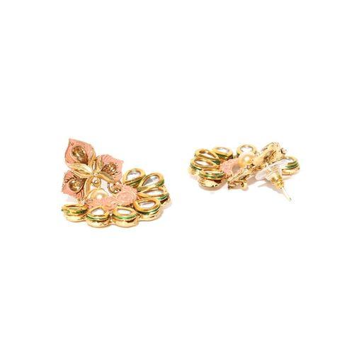 ZAVERI PEARLS Set of 2 Enamel Ethnic Earrings - ZPFK9031