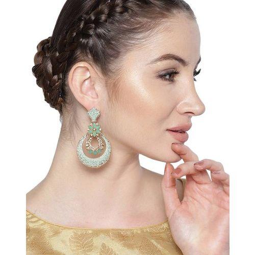 ZAVERI PEARLS Set of 2 Traditional Meenakari Kundan & Pearl Dangler Earrings - ZPFK9033