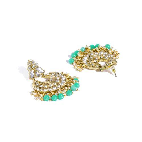 ZAVERI PEARLS Set of 2 Kundan Dangler Earrings - ZPFK9020