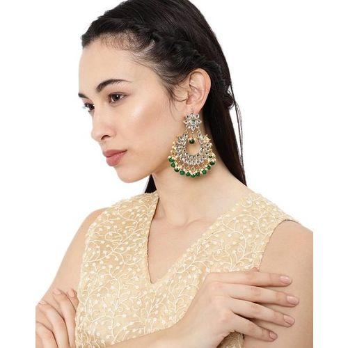 ZAVERI PEARLS Set of 2 Padmavati-Inspired Kundan Dangler Earrings - ZPFK9019