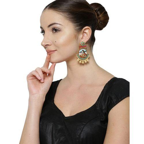 ZAVERI PEARLS Set of 2 Padmavati-Inspired Kundan Drop Earrings - ZPFK9017