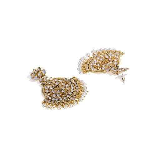 ZAVERI PEARLS Kundan & Pearl Embellished Dangle Earrings - ZPFK9079
