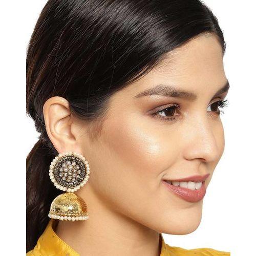 ZAVERI PEARLS Antique Enchanting Kundan Jhumki Earrings - ZPFK9348