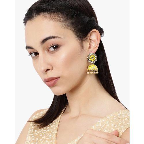 ZAVERI PEARLS Enamelled Jhumki Earrings-ZPFK8805