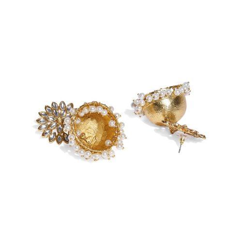 ZAVERI PEARLS Kundan & Pearl Embellished Jhumkas - ZPFK9070