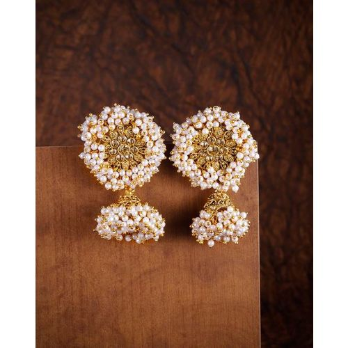 ZAVERI PEARLS Pearl Embellished Jhumki Earrings-ZPFK8959