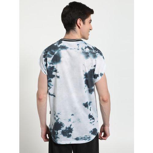 KOOVS Text Memphis Print Tie-Dye T-Shirt