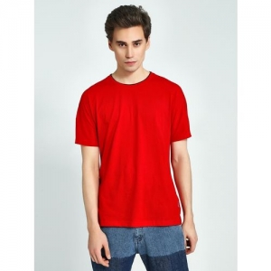 Blue Saint Contrast Ribbed Crew Neck T-Shirt