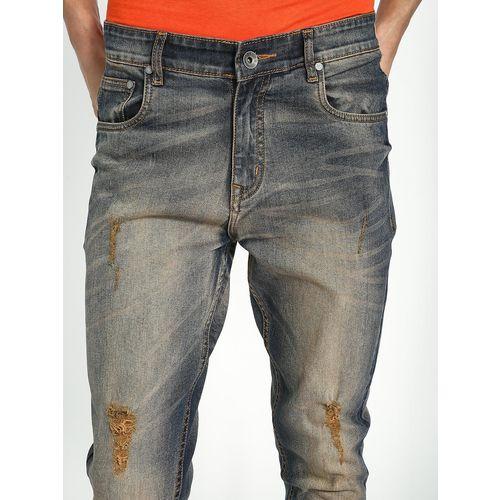 K Denim KOOVS Mid Wash Distressed Skinny Jeans