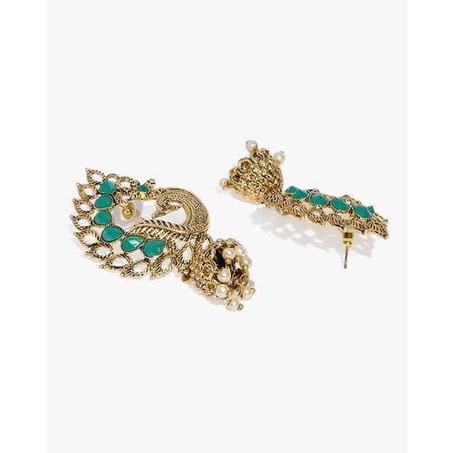 ZAVERI PEARLS Pack of 2 Peacock Inspired Jhumki Earrings - ZPFK9332