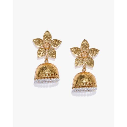 ZAVERI PEARLS Traditional Jhumki Earrings - ZPFK9301