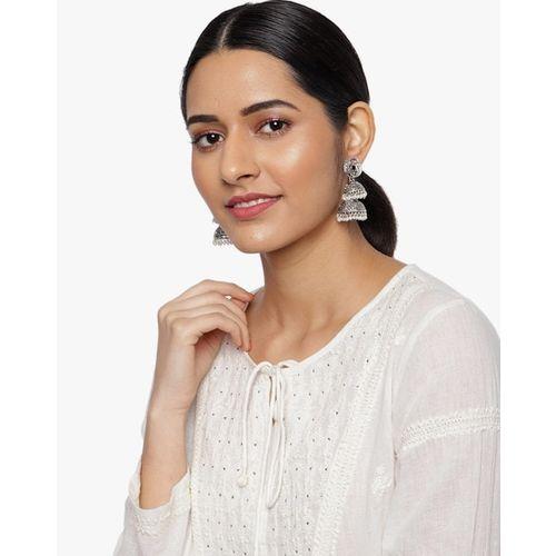 ZAVERI PEARLS Jhumka Earrings with Beads-ZPFK9265