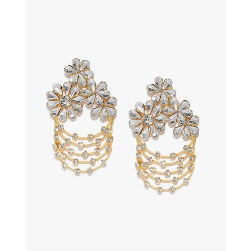 ZAVERI PEARLS Crystal Stones Contemporary Look Dangler Earrings - ZPFK9281