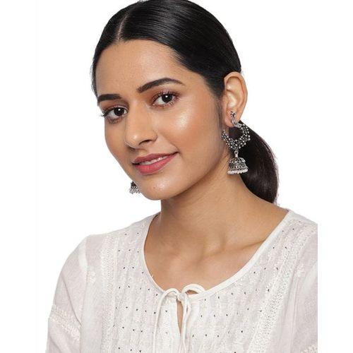 ZAVERI PEARLS Jhumka Earrings with Beads-ZPFK9229