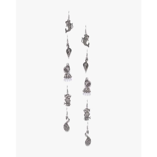 ZAVERI PEARLS Pack of 5 Antique Dangler Earrings-ZPFK7275