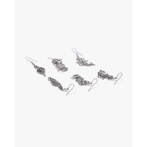 ZAVERI PEARLS Pack of 5 Antique Dangler Earrings-ZPFK7275