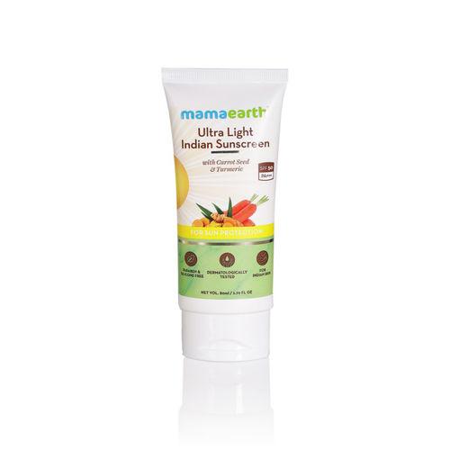 Mamaearth Unisex Ultra-Light SPF 50 Indian Sunscreen 80 ml