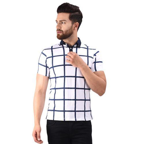 LE BOURGEOIS white cotton polo t-shirt