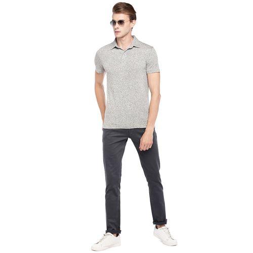 Globus grey melange polo t-shirt