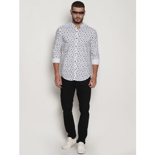 I-VOC white cotton casual shirt
