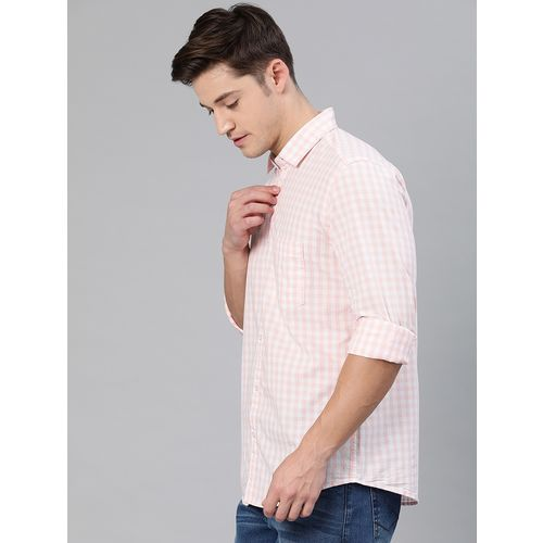 I-VOC pink checkered casual shirt