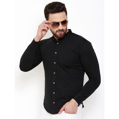 GESPO black solid casual shirt