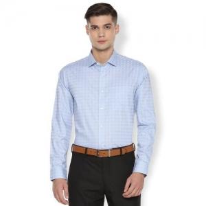 Van Heusen blue checkered formal shirt