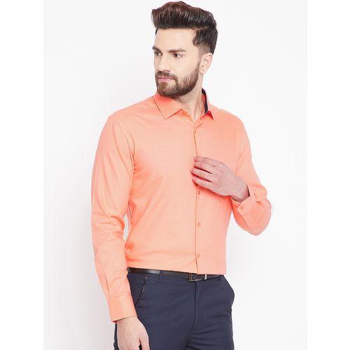 Canary London orange solid formal shirt