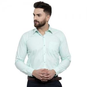 Hancock green solid formal shirt