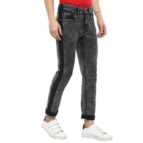Urbano Fashion grey cotton light washed jeans