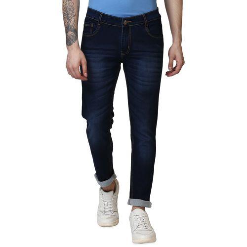 BUKKL navy blue light washed denim jeans
