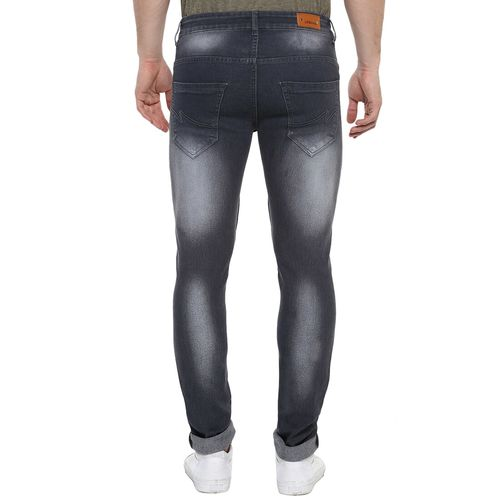 Urbano Fashion grey cotton blend washed jeans