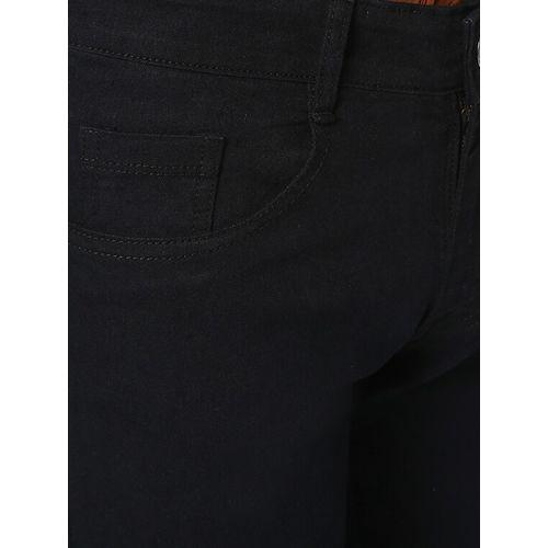 Urbano Fashion black solid plain jeans