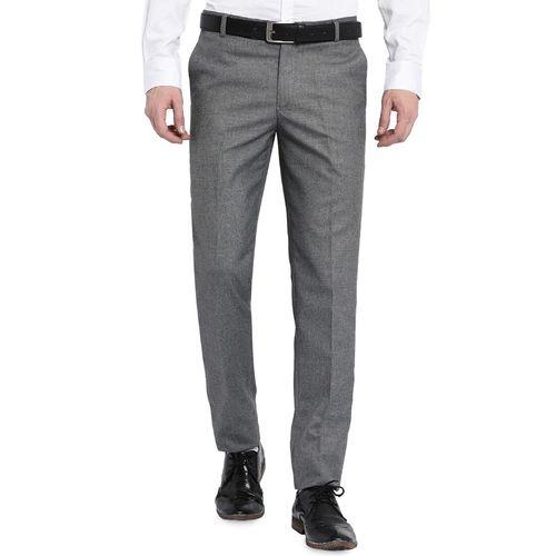 VILLAIN grey polyester formal trouser