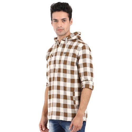 Mufti brown cotton short kurta