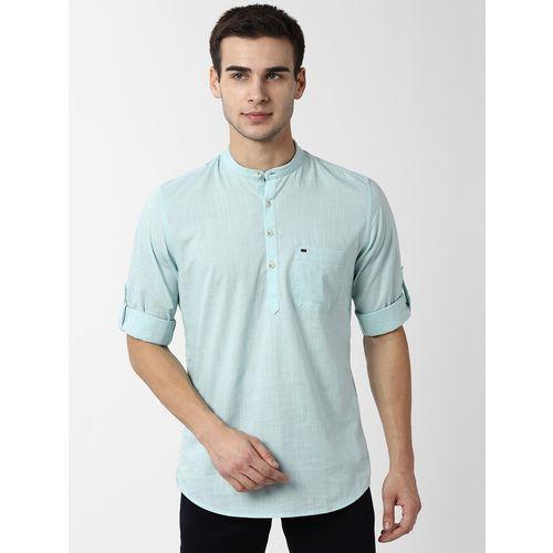 Peter England blue solid short kurta